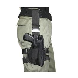 Beinholster Tiefziehholster Pistolenholster schwarz rechts - 1