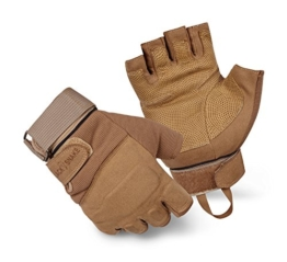 BlackSnake® Halbfinger Einsatzhandschuhe Mission Gloves Coyote L - 1