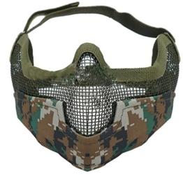 Coxeer® Softair Maske Totenkopf Schädel Vollschutzmaske Netz Gesichts-Schutz (ACU Tarnung) - 1