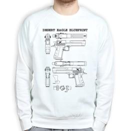 Desert Eagle Blueprint Gun Pistol Barrel Holster Pullover - 1