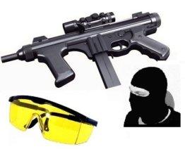 Elite Softair Maschinenpistole 52273 Set Kopfmaske + Schutzbrille - 1