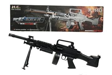 G8DS® Softair MG Dreibein Gewehr mit Magazin unter 0,5 Joule 6mm - 1