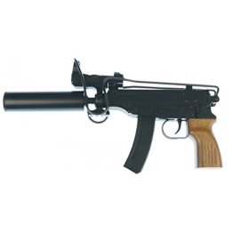 G8DS® Sport Softair Pistole Maschinenpistole Sturmgewehr M-37 mit Leuchtpunktvisier und Schalldämpfer unter 0,5 Joule 6mm Waffe ab 14 Jahren freigegeben 7268 - 1