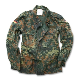 German Flecktarn Camouflage Pattern Fatigue Field Shirt (40 inch – Short (GR3)) - 1