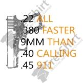 Hand gun Bullets Faster Than Calling 911 Self Defense 2nd Amendment Pullover - 1