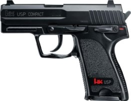 H&K Heckler & Koch USP Compact Vollmetall Softair 0,5 J 6 mm BB Federdruck + 1000 G8DS® BB´s 0,12 g - 1