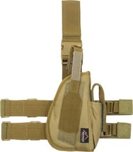 Pistolenholster Tiefzieholster in verschiedenen Farben für Links und Rechts Farbe Coyote Größe Rechts - 1