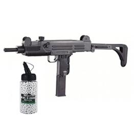 SET: Softair G8DS® Mp – R1, Uzi, Metal Gear Box AEG max. 0,5 Joule 6mm + G8DS® Softair Munition BIO BBs Premium Selection 2000 Stück 0,20 g 6mm - 1