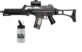 SET: Softair HK Heckler & Koch G36 Sniper Gewehr unter 0,5 Joule federdruck + G8DS® Softair Munition BIO BBs Premium Selection 2000 Stück 0,20 g 6mm - 1