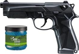 SET: Softair two Pistole Beretta 90 Federdruck + Umarex Combat Zone Softairkugeln blau 6mm 0,12g 5000 BBs - 1