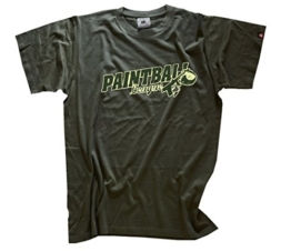 Shirtzshop Herren T-Shirt PAINTBALL LEAGUE gotcha softair, Olive, S - 1