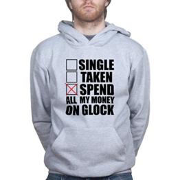 Single Taken Spend All Money On Glock 43 19 26 27 Holster Kapuzenpullover - 1