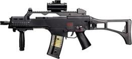 Softair – Gewehr Heckler & Koch G36 C max 0,5 J – elektrisch – Abzugsicherung + 5000 Combat Zone blau BB - 1