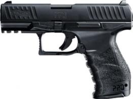 Softair Pistole Walther PPQ mit Ersatzmagazin schwarz, Federdruck + G8DS® Aufkleber - 1