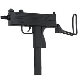 Softair Uzi Maschinenpistole in schwarz, 23cm länge - 1