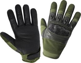 Taktische Einsatzhandschuhe mit schnitthemmender Kevlar®-Einlage, Knöchelschutz und Belüftungssystem Größe L - 1