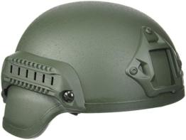 US Gefechtshelm MICH 2000 W/Rail oliv - 1