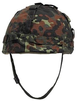 US Helm Kunststoff, mit Stoffbezug, flecktarn - 1